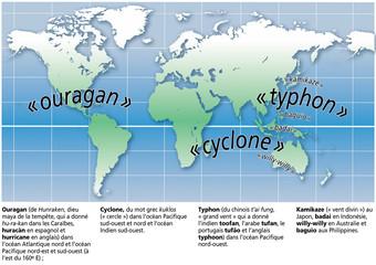 Cyclones, ouragans et typhons - Terminologie