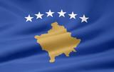 Flagge von Kosovo poster