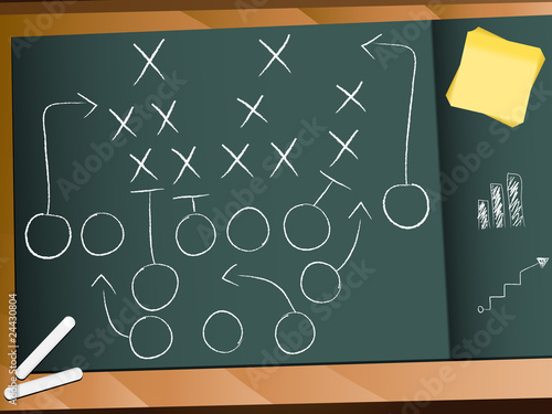Teamwork Football Game Plan Strategy