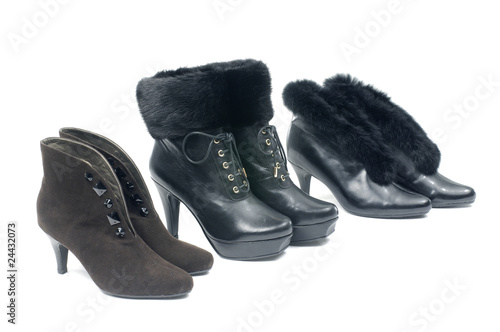 Set of black female boot