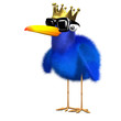 3d King Blue bird