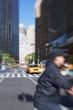 Lens blurred photo: Everyday street life in New York - Manhattan