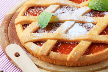 Lattice topped tart