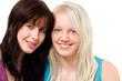 Zwei junge Mädchen Porträt