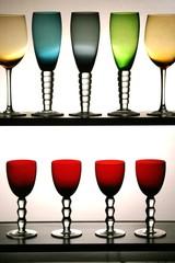 taças coloridas