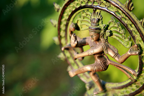 Leinwandbild Motiv Statue of Shiva Nataraja - Lord of Dance at sunlight