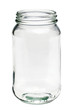 Empty glass jar isolated on a white background - 24439413