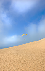 Paragliding in the desert
