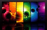 Color planets