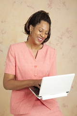 Businesswoman Using Netbook
