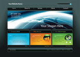 Fototapety Vector web site template 7