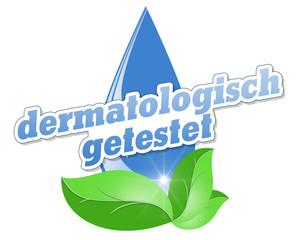 tropfen wasser blätter dermatologisch getestet