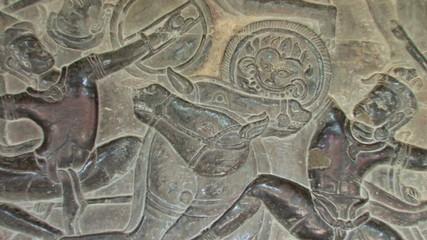 Bas Reliefs Sculpture Angkor Wat, Cambodia