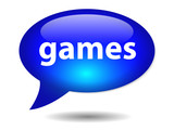 GAMES Speech Bubble Icon (web button console gamepad play online poster