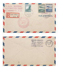 Hindenburg Airmail Envelope Front and Back