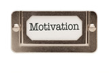 Motivation File Drawer Label poster