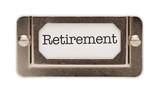 Retirement File Drawer Label poster