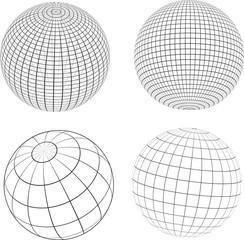 Wireframe globes