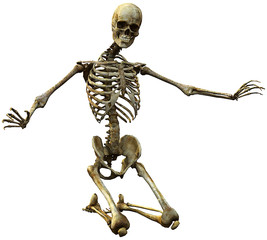 skeleton kneel