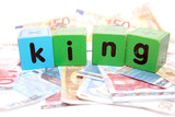 king in toy play block letters