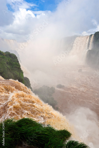 Waterfall in Iguazu Brazil