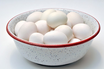 Uova bianche biologiche