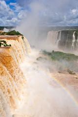 Iguazu waterfalls in Brazil, summer