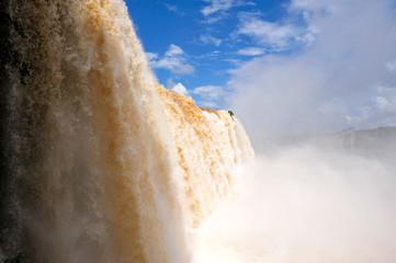 iguacu waterfalls in Brazil - close view