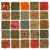 Fototapety Dried Herb, Spice, Fruit and Flora