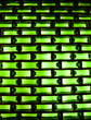 Green background: glass