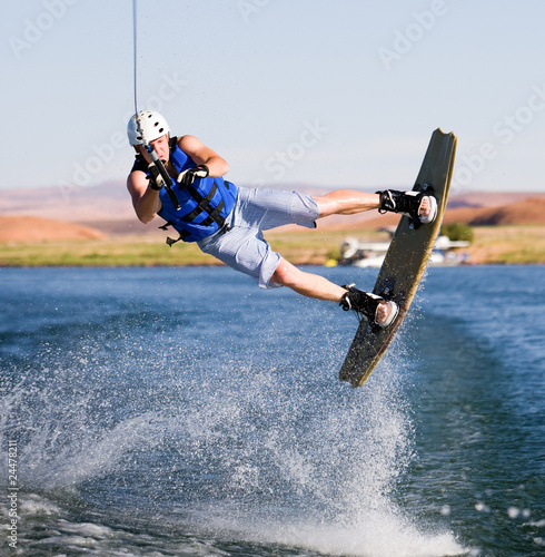 Canvas Water Motorsp. Man wakeboarding at Lake Powell 12
