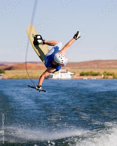 Fotobehang Water Motorsp. Man wakeboarding at Lake Powell 13