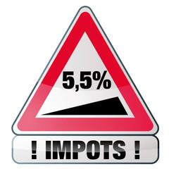 Impôts - base d'imposition de 5,5% en france