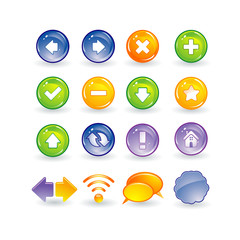 Internet and web buttons