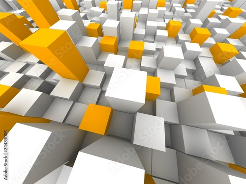 Abstract city from above. 3d rendered illustration.