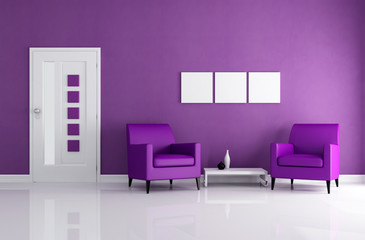 purple foyer
