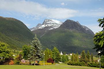 Village of Loen on Sognefjord