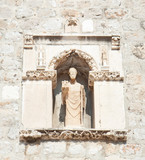 Statue of St Blasius (Sv. Vlaho) the protector of Dubrovnik poster