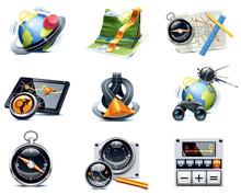 Wektorowe ikony nawigacyjne GPS. Część 1