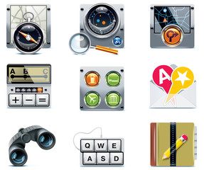 Vector GPS navigation icons. Part 2