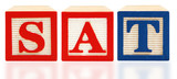 Alphabet Blocks SAT .Scholastic Assessment Test poster