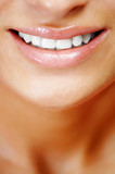 Teeth of a smiling young woman ,vertical