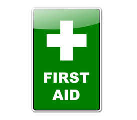 Pegatina FIRST AID