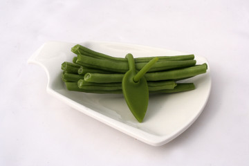 Haricots verts et son attache