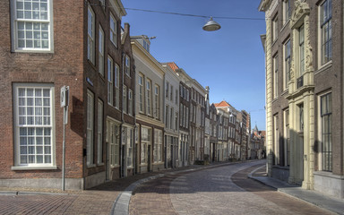 Street in Dordrecht, Holland