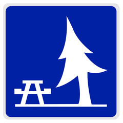 road sign - picnic area