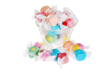 salt water taffy in a bowl