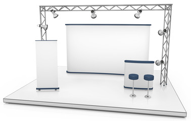 Blank trade exhibition stand