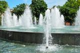 City park with a fountain