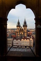 Praga Plaza Vieja Torres de Tyn